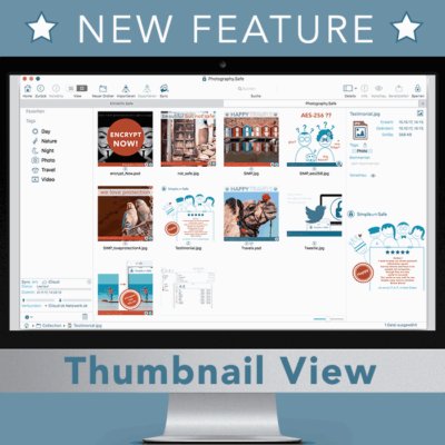 files view with thumbnails