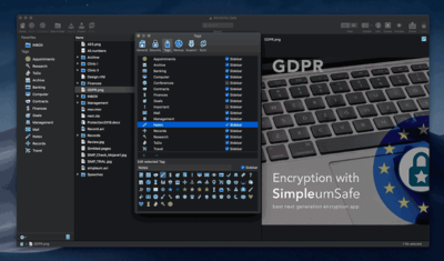 SimpleumSafe easy-to-use encrypted file manager now