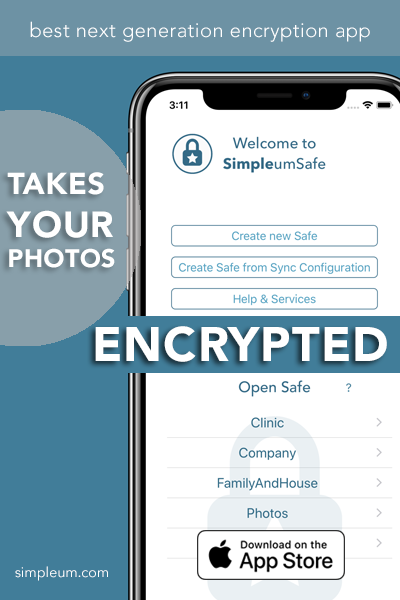 take encrypted photos: SimpleumSafe with File Manager for iOS