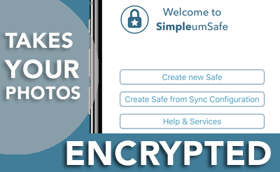 take encrypted photos: SimpleumSafe with File Manager for